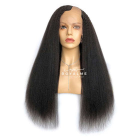 Aurelia Kinky Straight Wig U Part Afro Wig Natural Looking