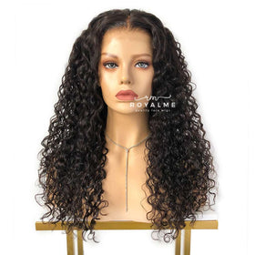 Chili Long Curly Wig Plucked Hairline Black Curly Hair