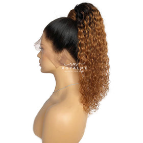 Chloe Natural Hair Ponytail Curly Human Hair Black And Colored Look