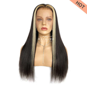 Logan Straight Hair Wig With Face-Framing Blonde Streaks