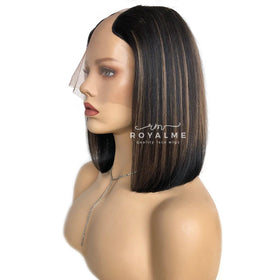 Venus U Part Wig Bob Yaki Straight Look Indian Virgin Hair