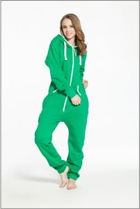 Solid adult onesie all-in-one piece jumpsuit jump in fleece zip hoody by Nordic Way rompers daffedress fleece unique