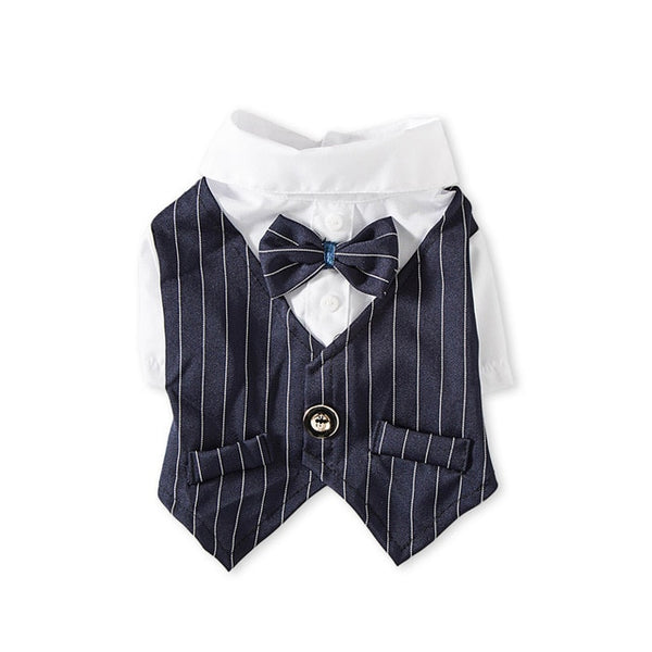 Gentleman Dog Clothes Wedding Suit Formal Shirt For Small Dogs