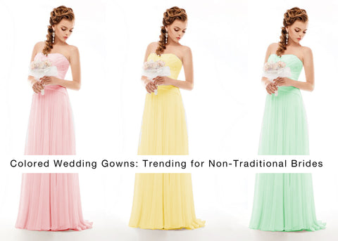 Colored Wedding Gowns: Trending for Non-Traditional Brides