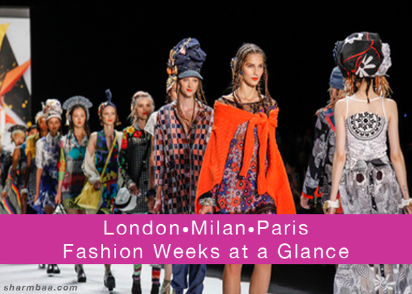 London•Milan• Paris• Fashion Weeks at a Glance