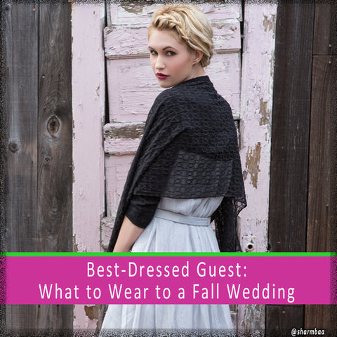 best-dressed guest: what to wear to a fall wedding Sharmbaa Cosmopolis bolero