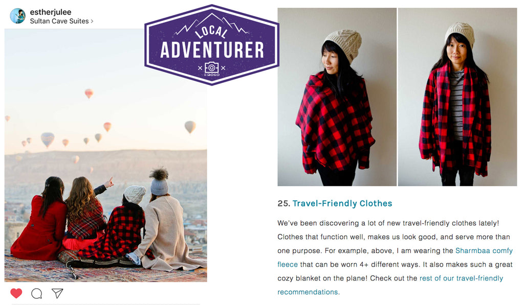 Local Adventurer lists sharmbaa on their list of Travel Friendly clothes