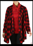 LeeLoo Multi-Jacket: Fleece, Buffalo Plaid, Red