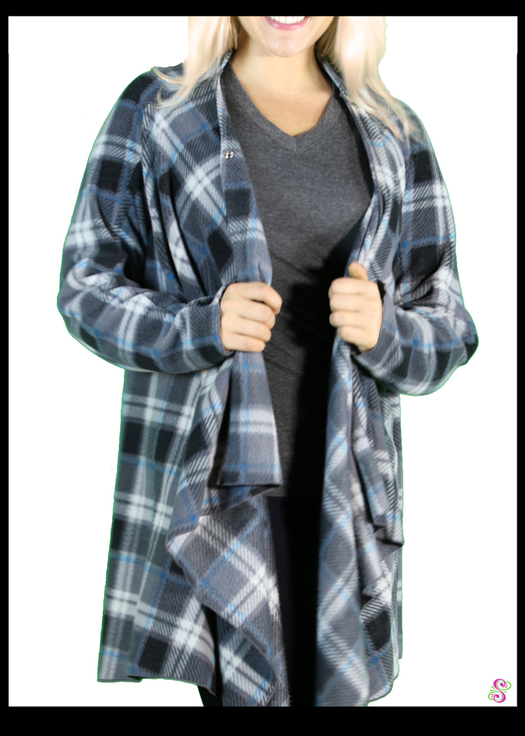 LeeLoo Multi-Jacket: Fleece, London Plaid, Blue