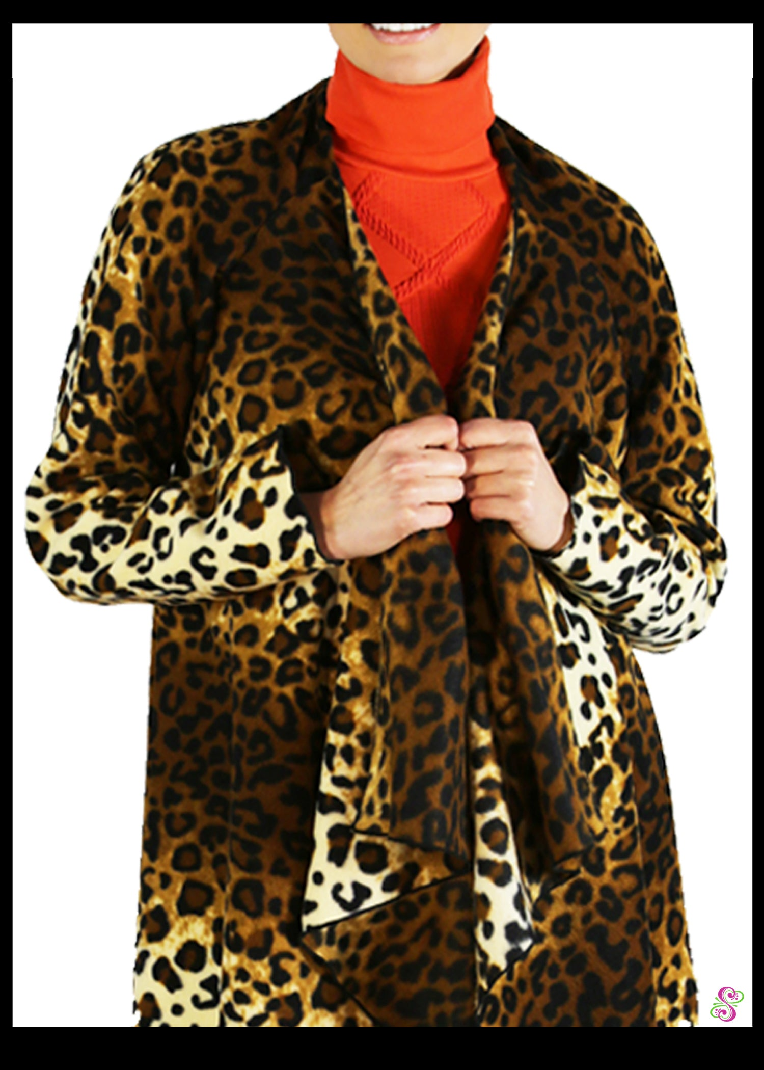 LeeLoo Multi-Jacket: Fleece, Leopard