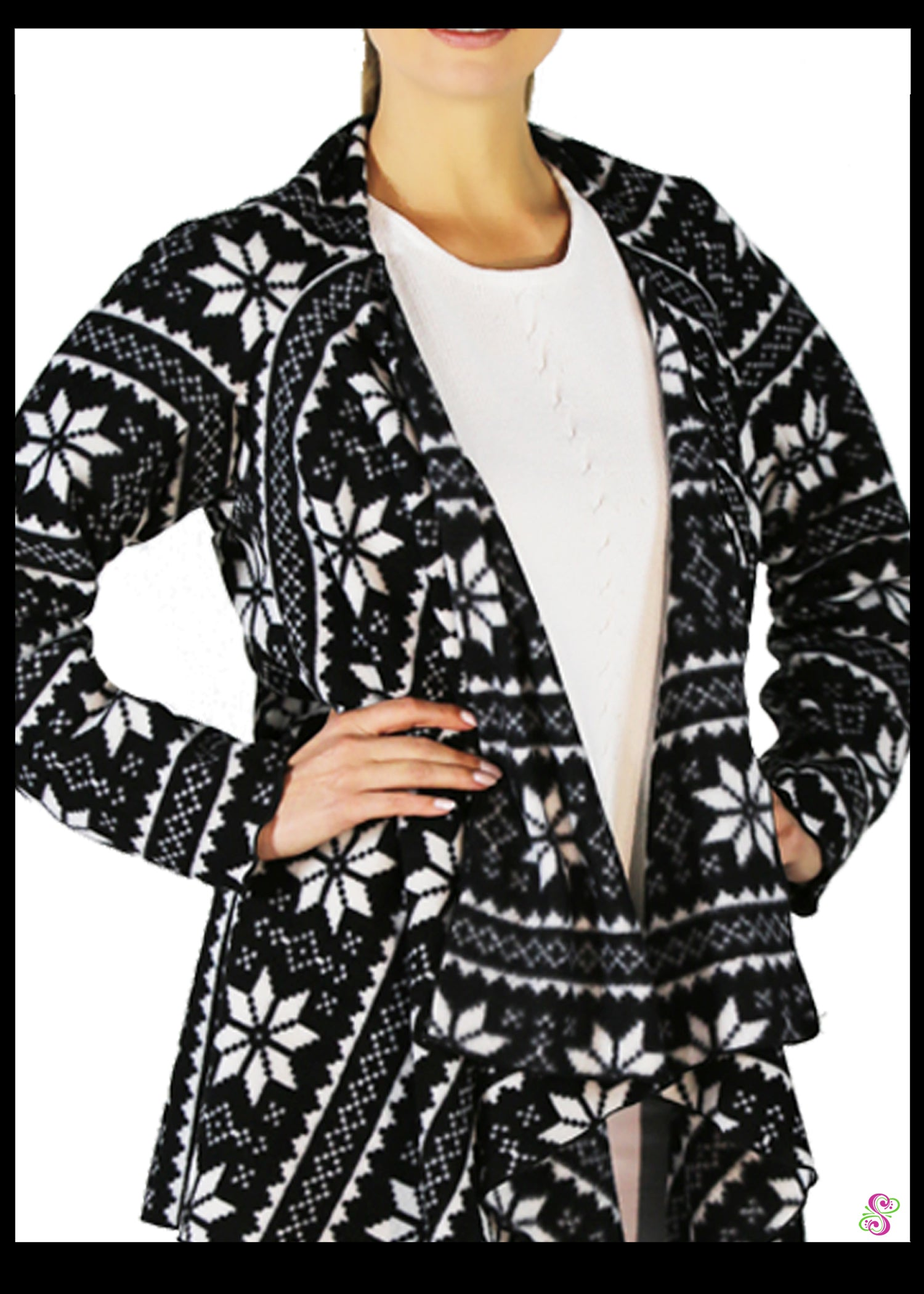 LeeLoo Multi-Jacket: Fleece, Nordic Star, Black