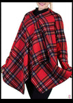LeeLoo Multi-Jacket: Fleece, Stewart Plaid, Red