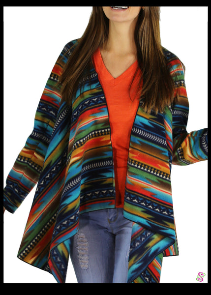 LeeLoo Multi-Sweater: Fleece, Southwestern