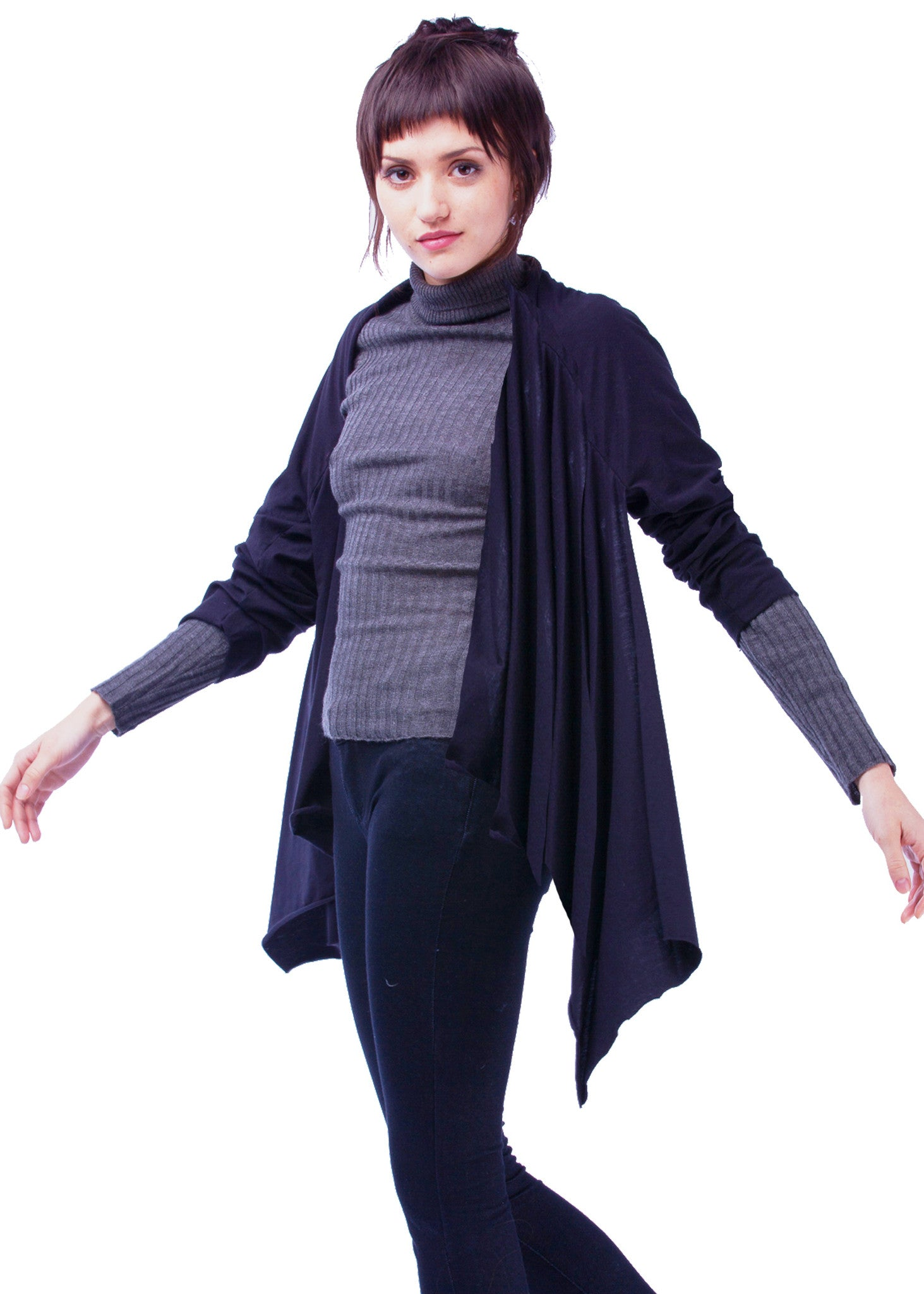 Carrie City Shawl, 100% Cotton, Black