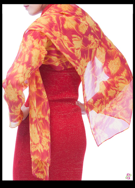 Cocktail Cape, Flame burst print