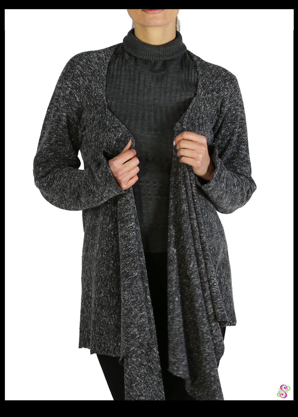 Bree Business Bolero, Knit, Charcoal Grey