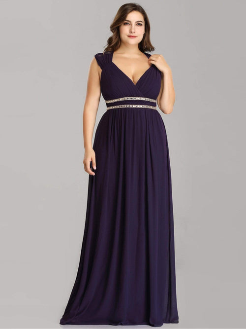 Tina bling cut out back bridesmaid dress in dark purple s24-Bay Bridesmaid