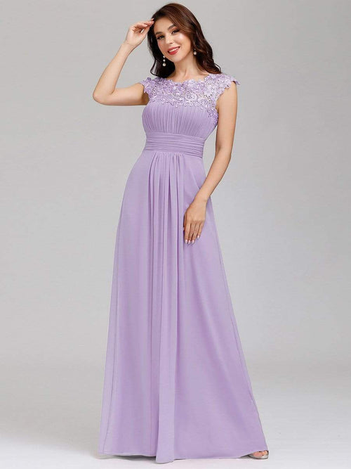 Allanah lace and chiffon bridesmaid dress in lilac Express NZ wide!