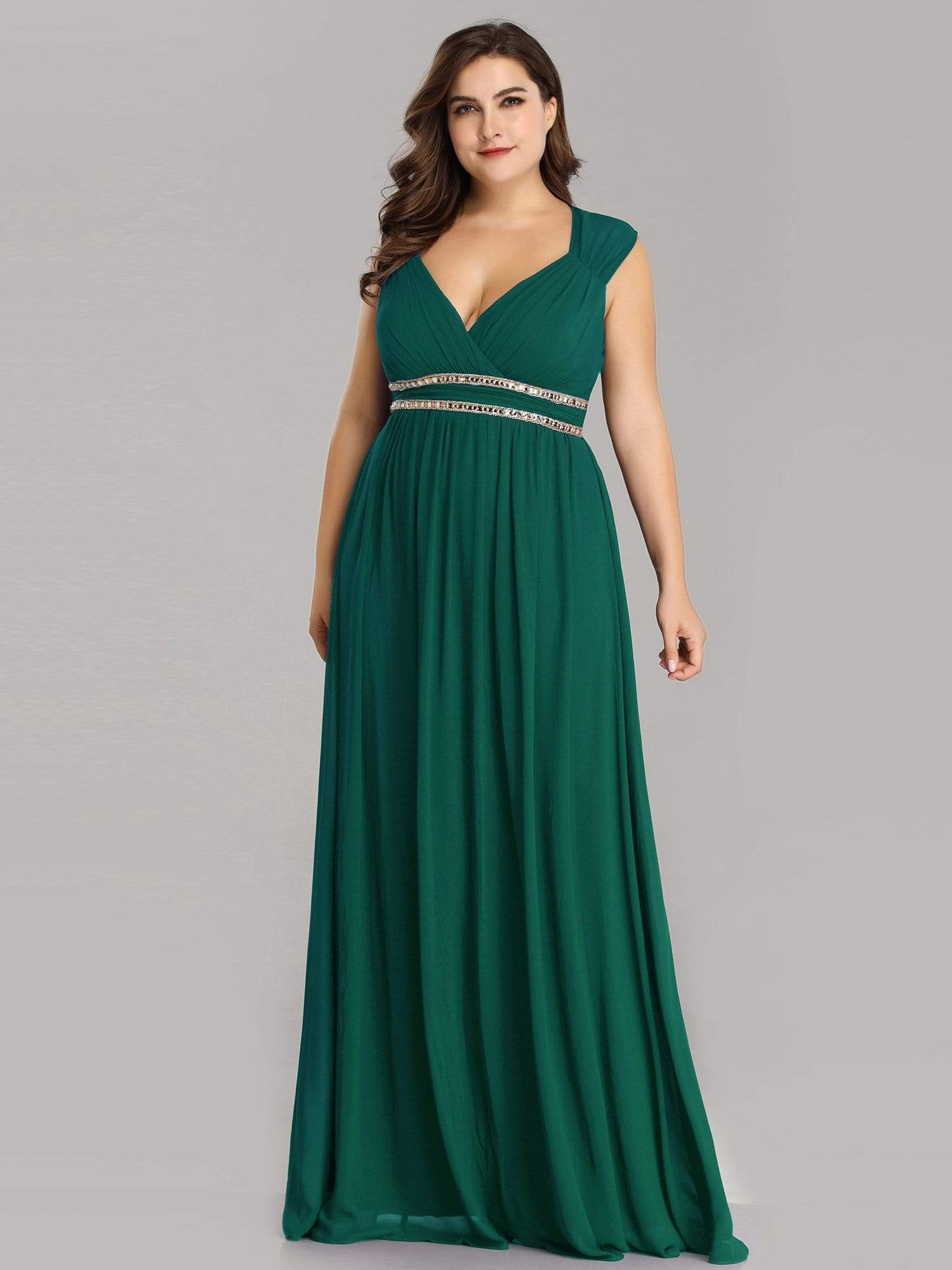 Tina bling cut out back chiffon bridesmaid dress in emerald green on sale s10-Bay Bridesmaid