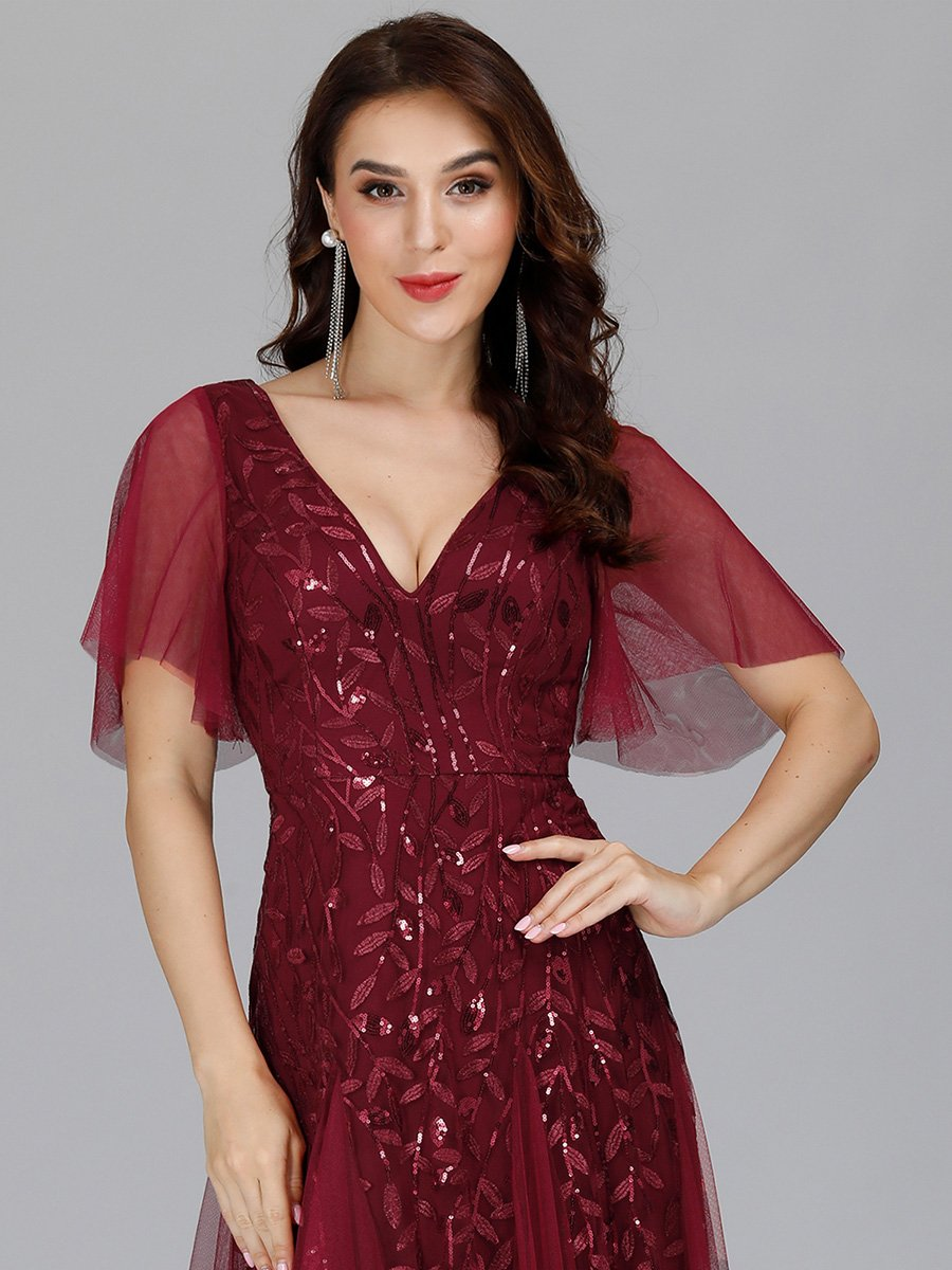 Sally tulle leaf pattern dress s14 in burgundy red Express NZ wide!
