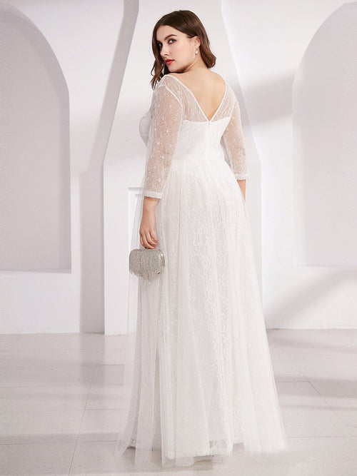 Brigette half sleeve tulle wedding dress in ivory s22, s24-Bay Bridesmaid