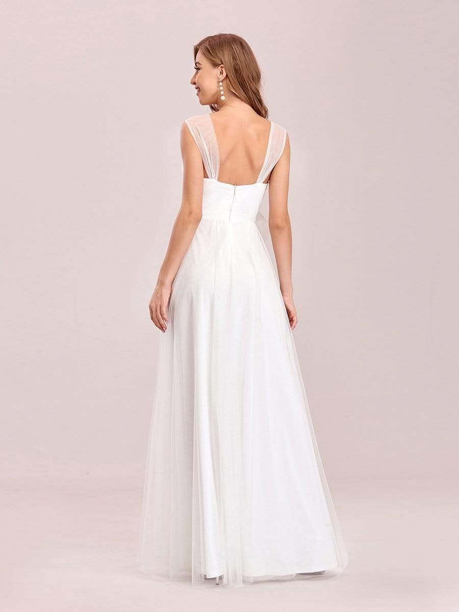 Cammy sleeveless tulle wedding dress in ivory