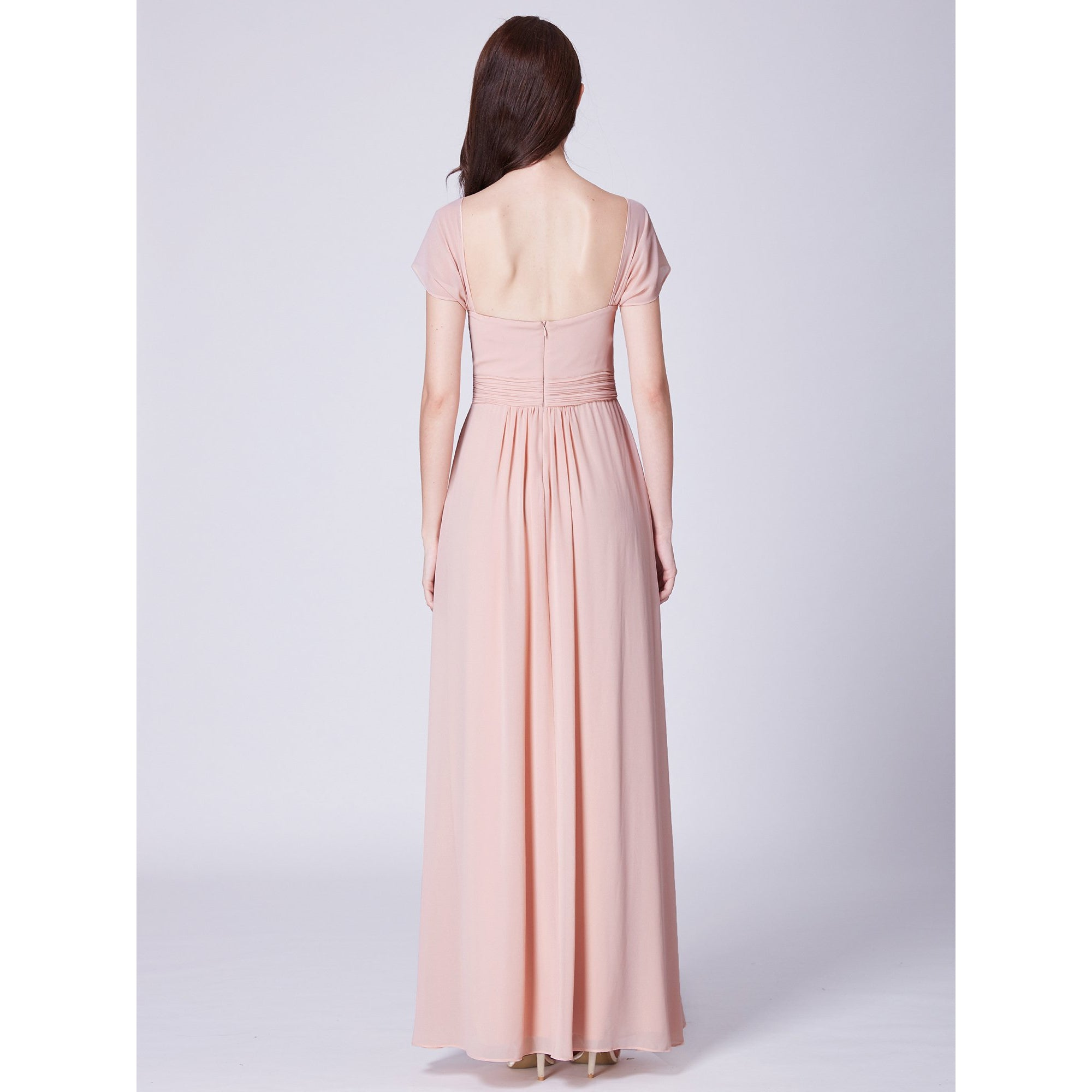 Katara lovely chiffon bridesmaid dress in blush s12-Bay Bridesmaid