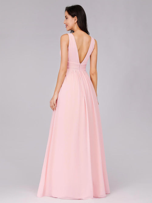 Ayla chiffon bridesmaid dress in light pink s14-Bay Bridesmaid
