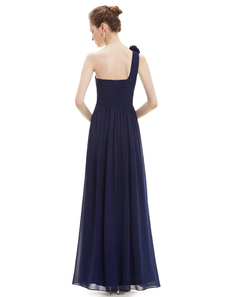 India one shoulder bridesmaid dress in navy blue Express NZ wide!