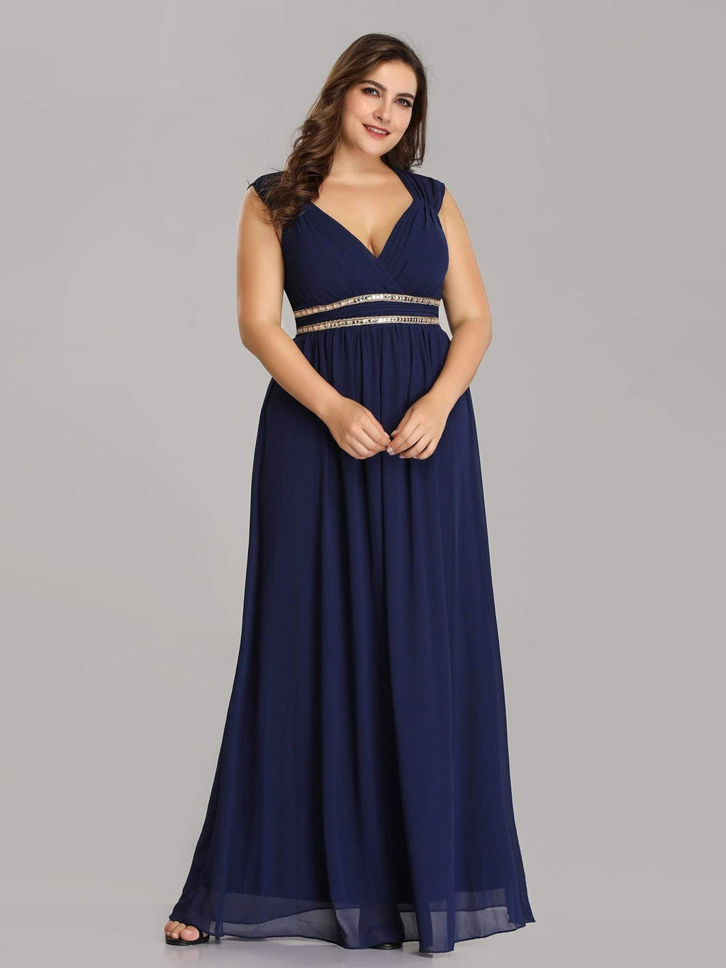 Tina bling cut out back chiffon bridesmaid dress in navy Express NZ wide!