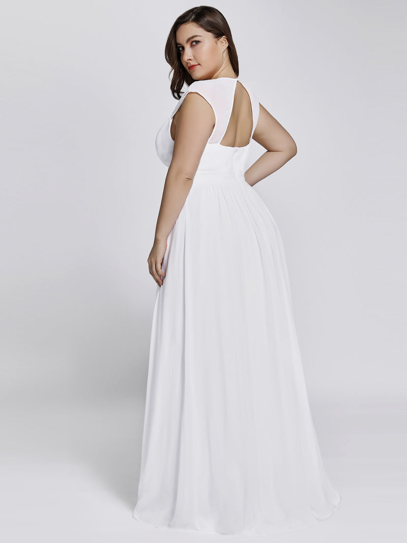 Tina chiffon ball gown with cut out back and bling in white Express NZ wide!