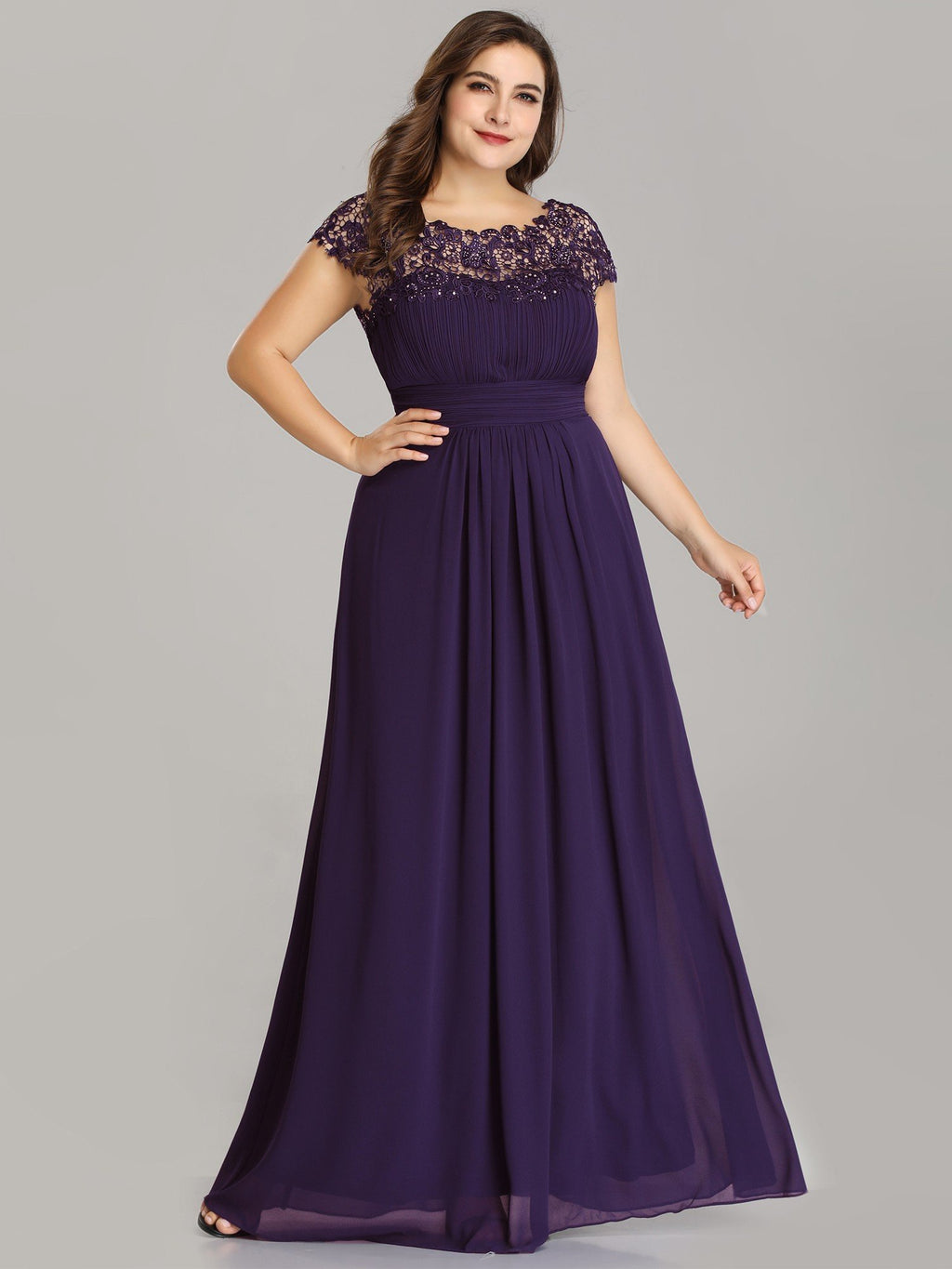 Allanah chiffon bridesmaid dress in dark purple Express NZ wide!