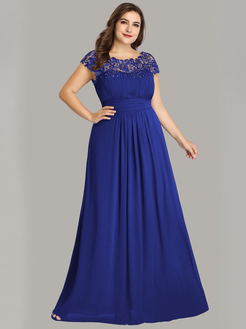 Allanah lace and chiffon bridesmaid dress in sapphire blue s18 Express NZ wide!