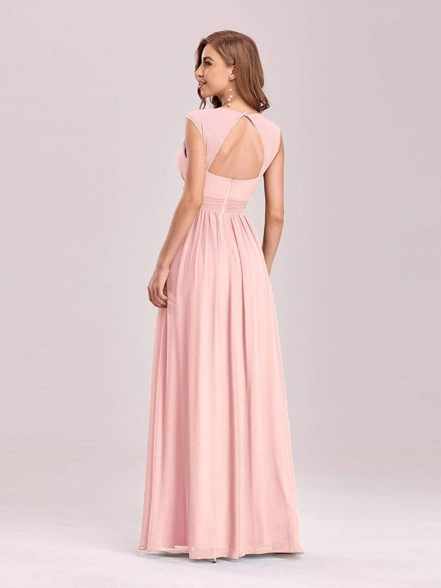Tina bling cut out back chiffon bridesmaid dress in light pink Express NZ wide!