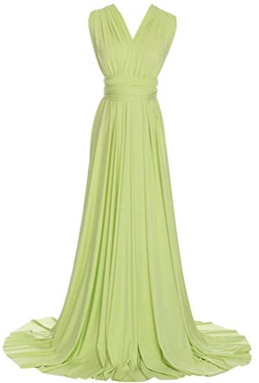 Apple green convertible Infinity bridesmaid dress