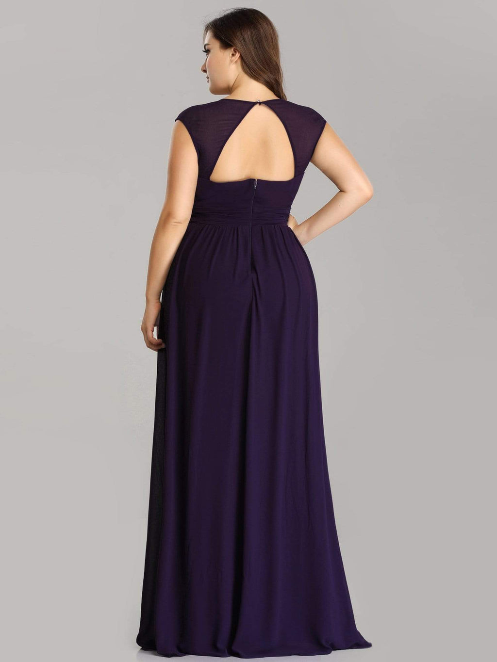 Tina bling cut out back bridesmaid dress in dark purple s22 Express NZ wide!