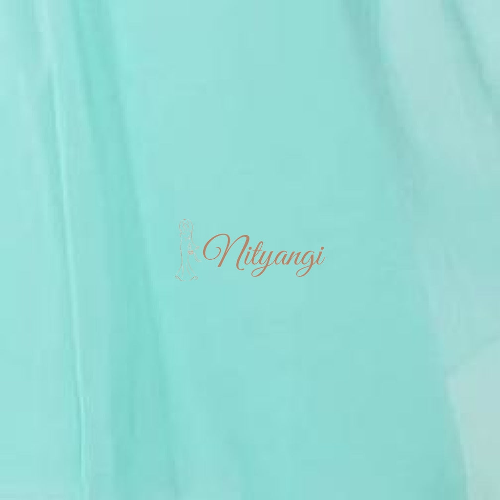 Chiffon Swatches (Classic Collection - Chiffon Bridesmaid Gowns) Aqua Infinity Wear