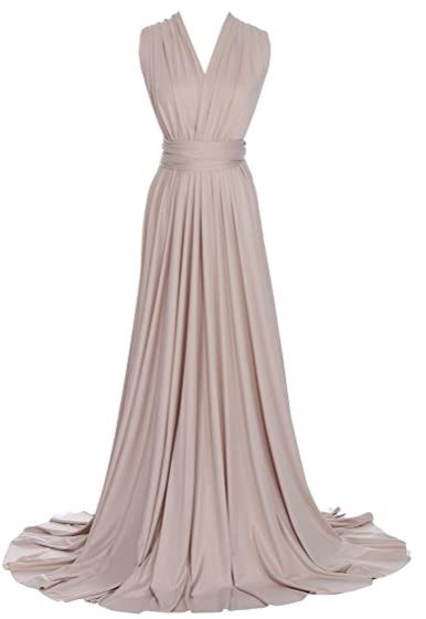 Beige convertible Infinity bridesmaid dress