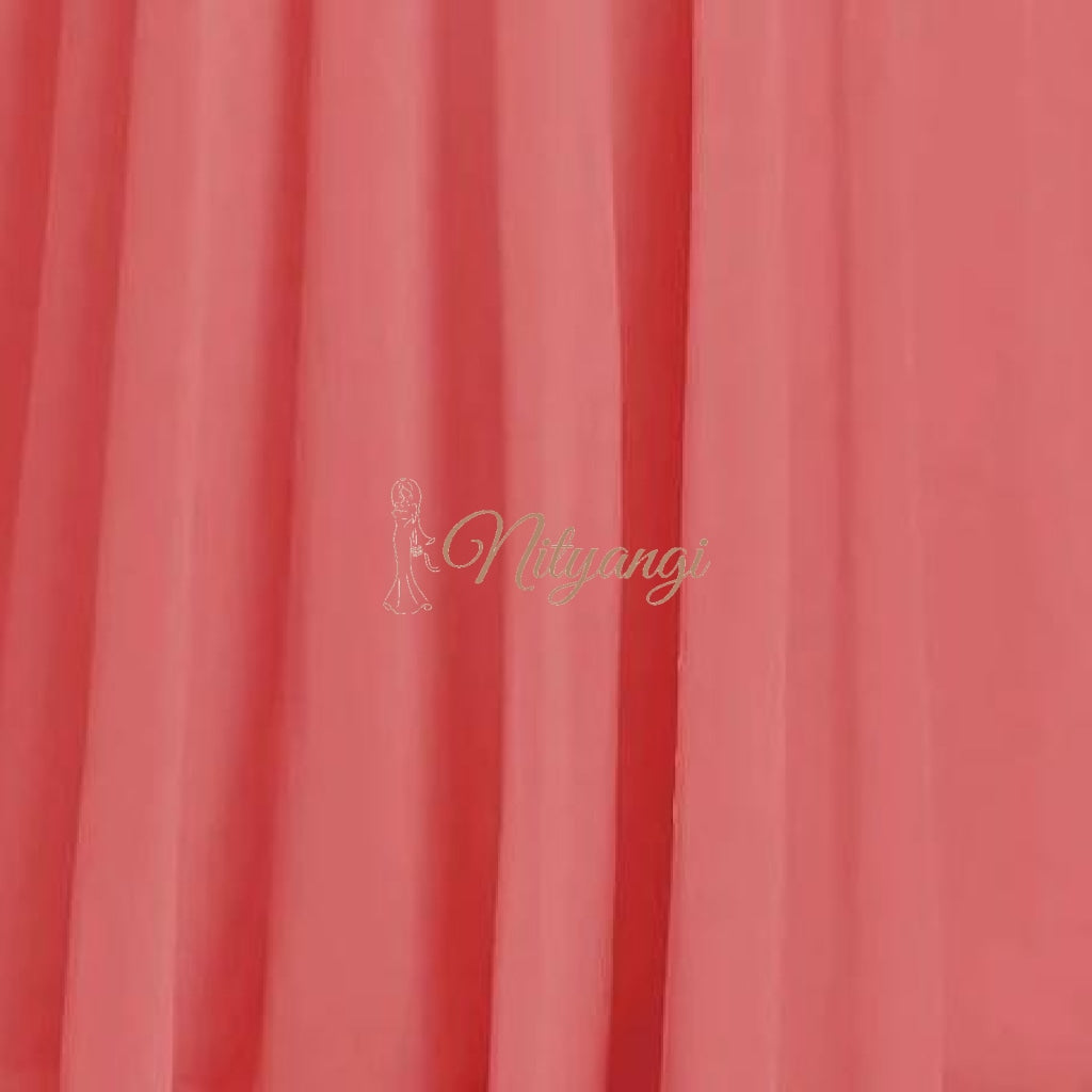 Chiffon Swatches (Classic Collection - Chiffon Bridesmaid Gowns) Coral Infinity Wear