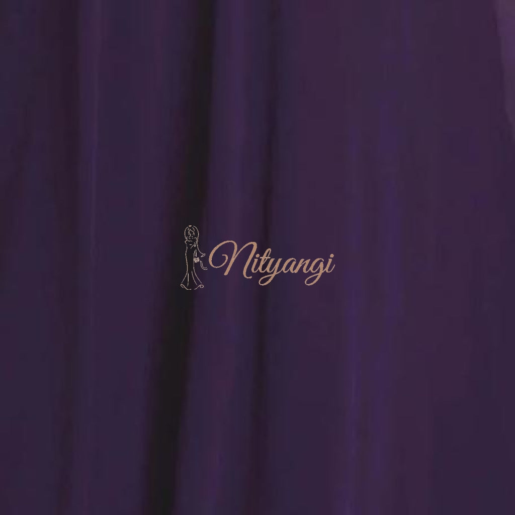 Chiffon Swatches (Classic Collection - Chiffon Bridesmaid Gowns) Dark Purple Infinity Wear