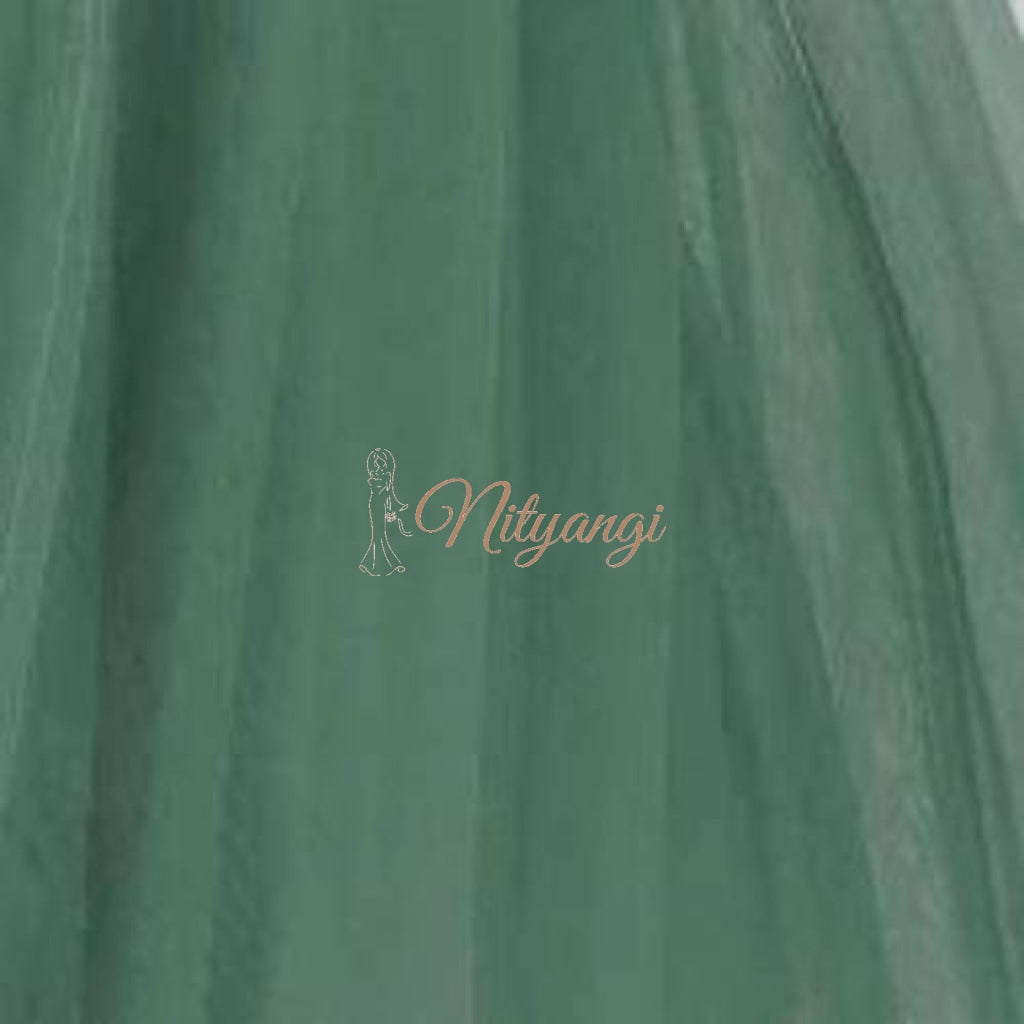 Tulle Swatches (Classic Collection - Tulle Bridesmaid Gowns) Dusky Green Accessories