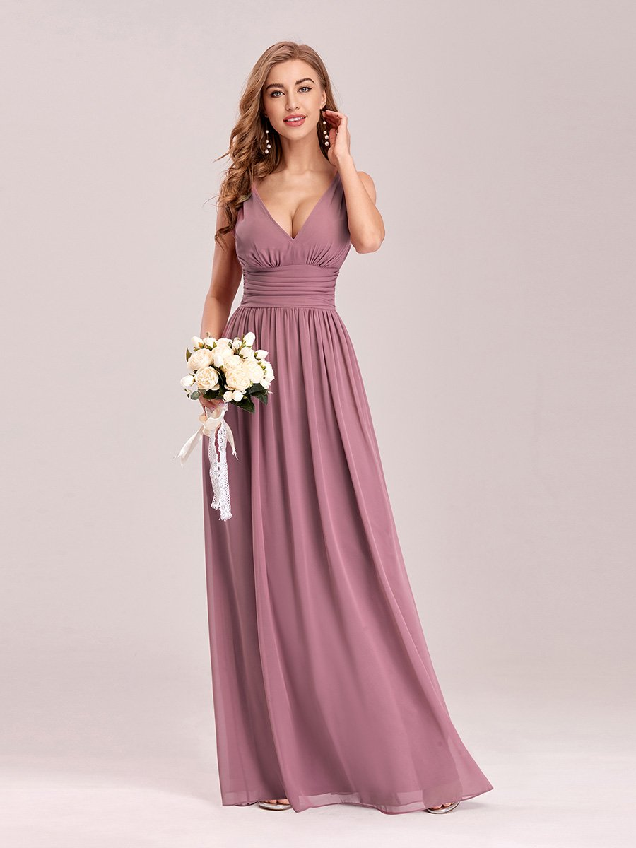 Veda chiffon bridesmaid dress in dusky rose s18 Express NZ wide!