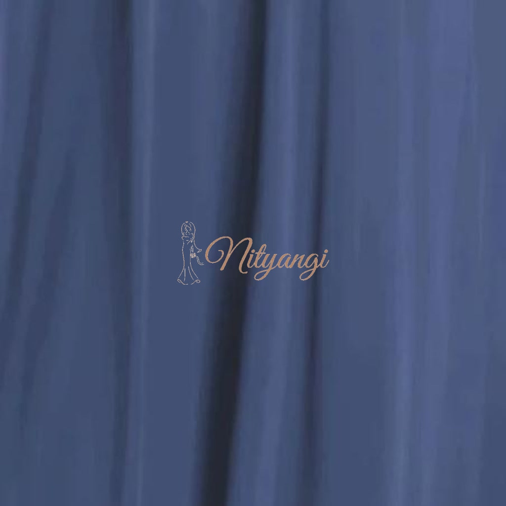 Chiffon Swatches (Classic Collection - Chiffon Bridesmaid Gowns) Dusky Blue Infinity Wear