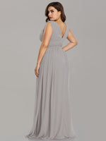 Veda V neck chiffon bridesmaid dress in Grey s16 Express NZ wide!