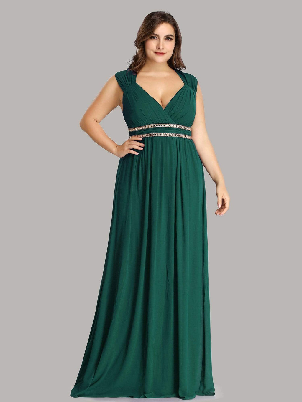 Tina bling cut out back chiffon bridesmaid dress in emerald green s8 Express NZ wide!