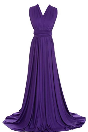 Bright Purple Convertible Infinity bridesmaid dress