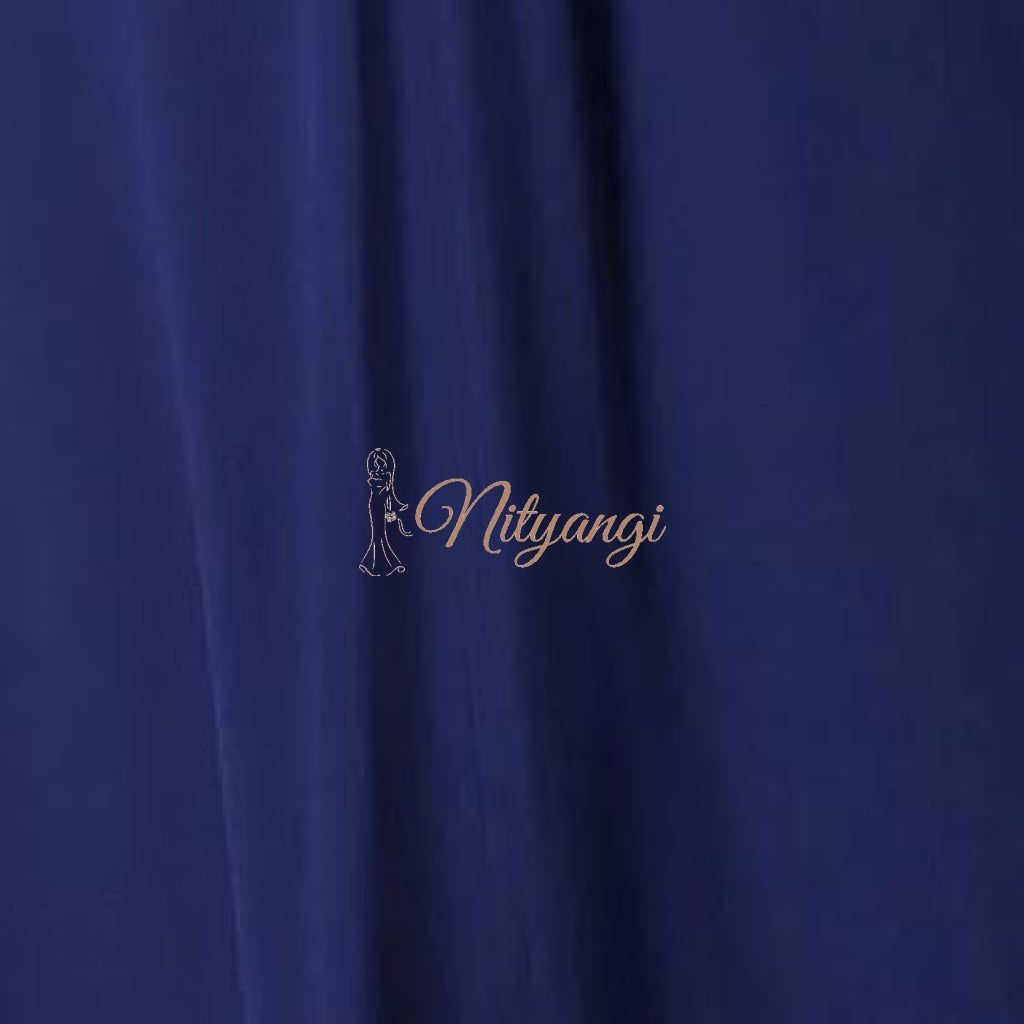 Chiffon Swatches (Classic Collection - Chiffon Bridesmaid Gowns) Navy Infinity Wear