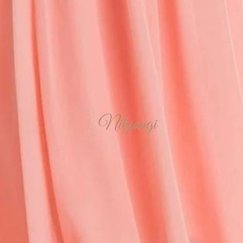 Chiffon Swatches (Classic Collection - Chiffon Bridesmaid Gowns) Peach Infinity Wear