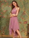 Ronda short bridesmaid dress in dusky rose s12 Express NZ wide