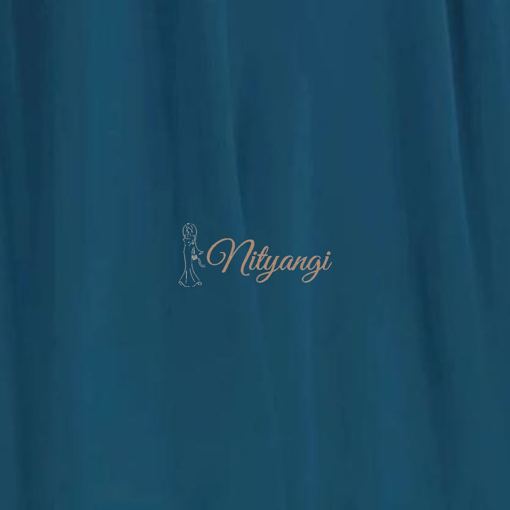 Chiffon Swatches (Classic Collection - Chiffon Bridesmaid Gowns) Teal Infinity Wear